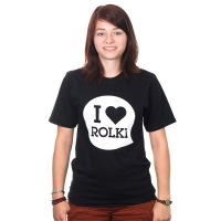 Bladeville - I Love Rolki T-Shirt - Black