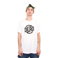 Dead - Circle Logo T-Shirt - White