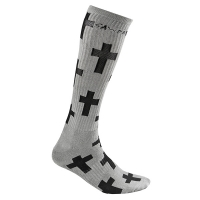 Gawds - Cross Socks Long - Grey