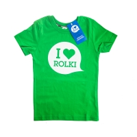 I Love Rolki - Classic Kids T-shirt - Green