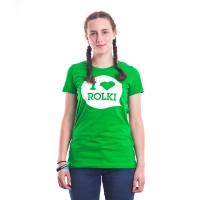 I Love Rolki - Classic Women T-shirt - Zielony