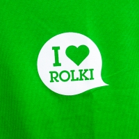 I Love Rolki - Logo Women T-shirt - Green