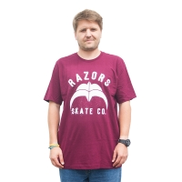 Razors - Skate Co 2 T-Shirt - Maroon