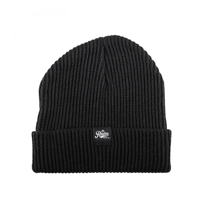 7e7f7ab9c0a Razors - Woven Knit Beanie - Black · Hedonskate