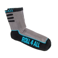 Roll4all - Short Socks - Szare/Czarne