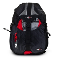 Seba - Backpack Small - Black/Red
