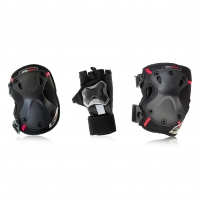 Seba - Protective PRO Pack x 3 (Wrist, Knee Zip, Elbow)