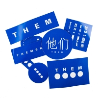 THEM - Sticker Pack - Blue