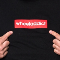 Wheeladdict - Logo T-shirt - Black